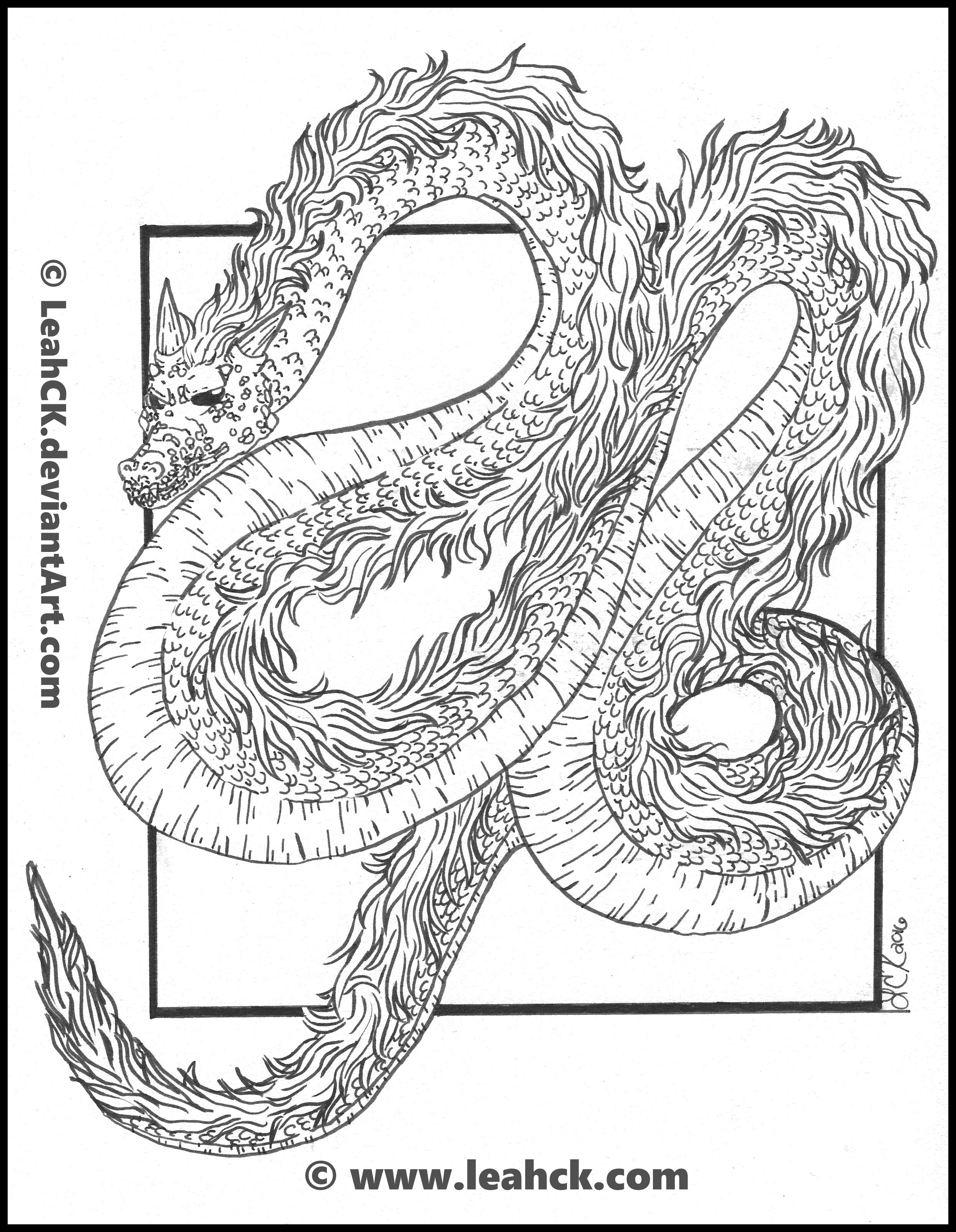 Asian Style Dragon Line